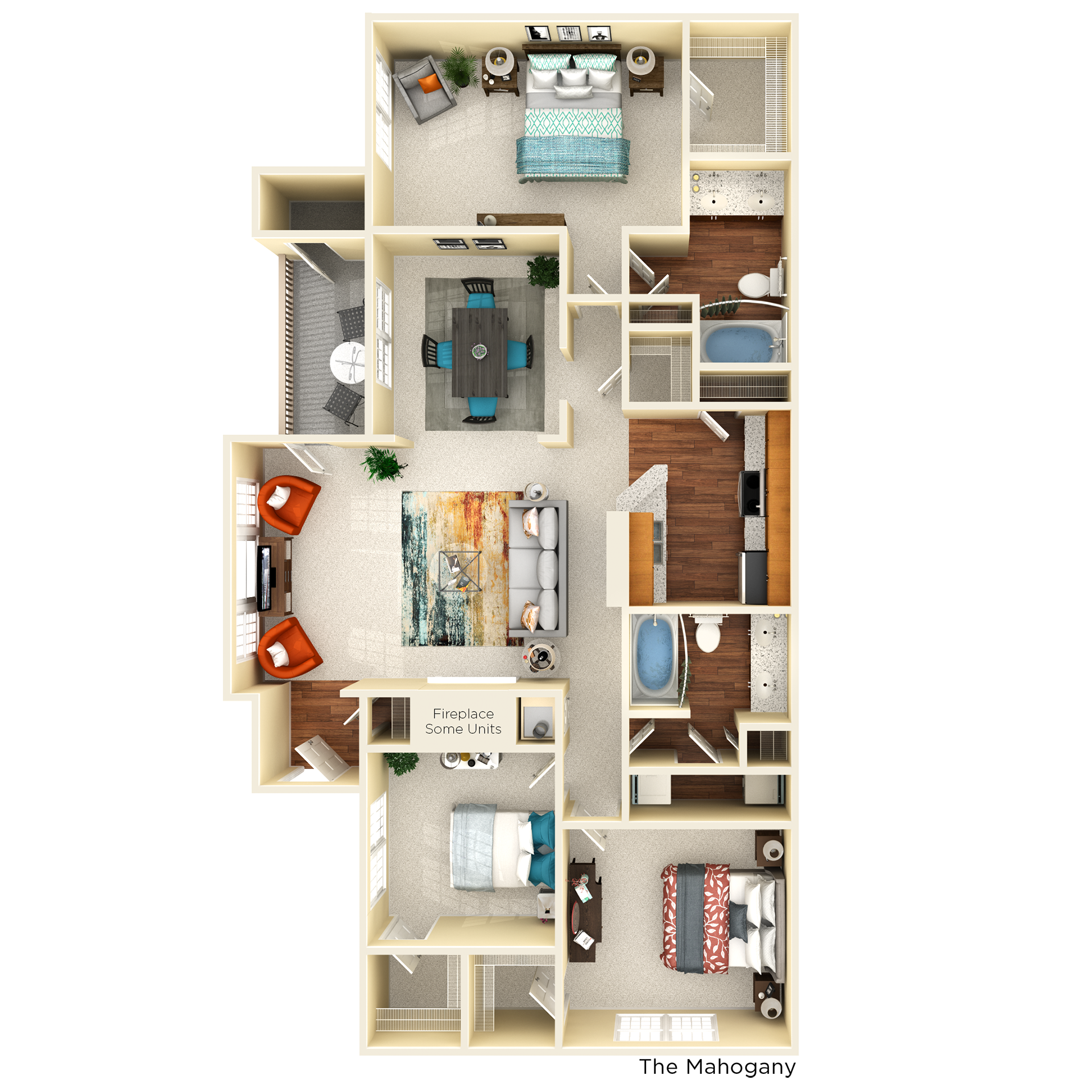 D2 mahogany floor plan
