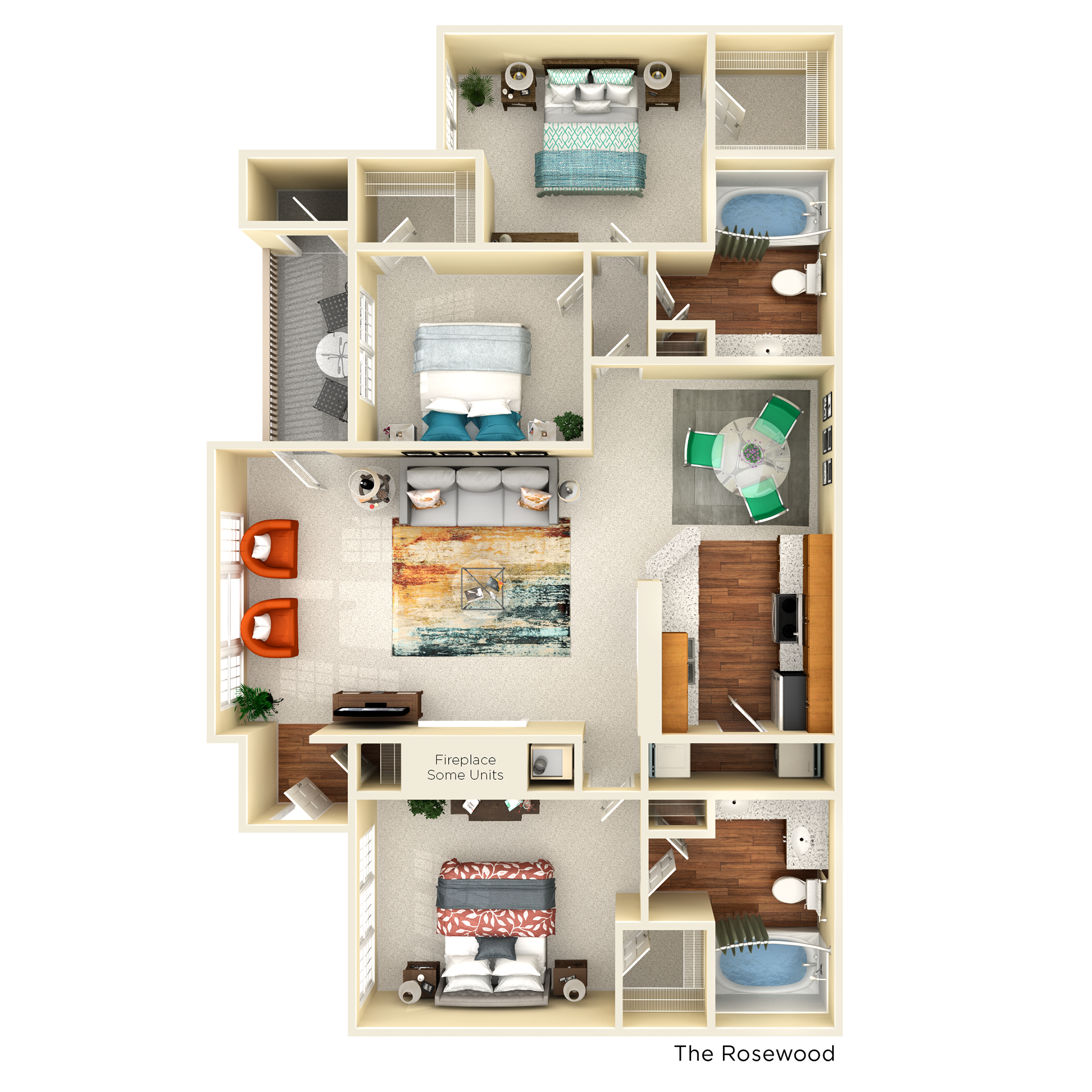 D1 rosewood floor plan