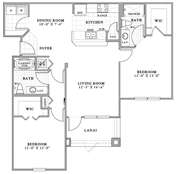 Duetto Lanai Floor Plan