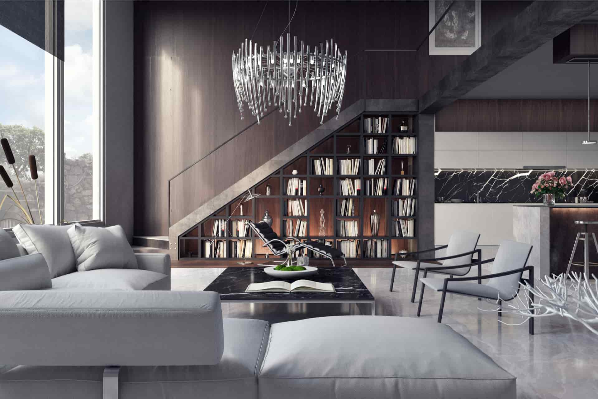 Luxury Apartment Living room, interior design