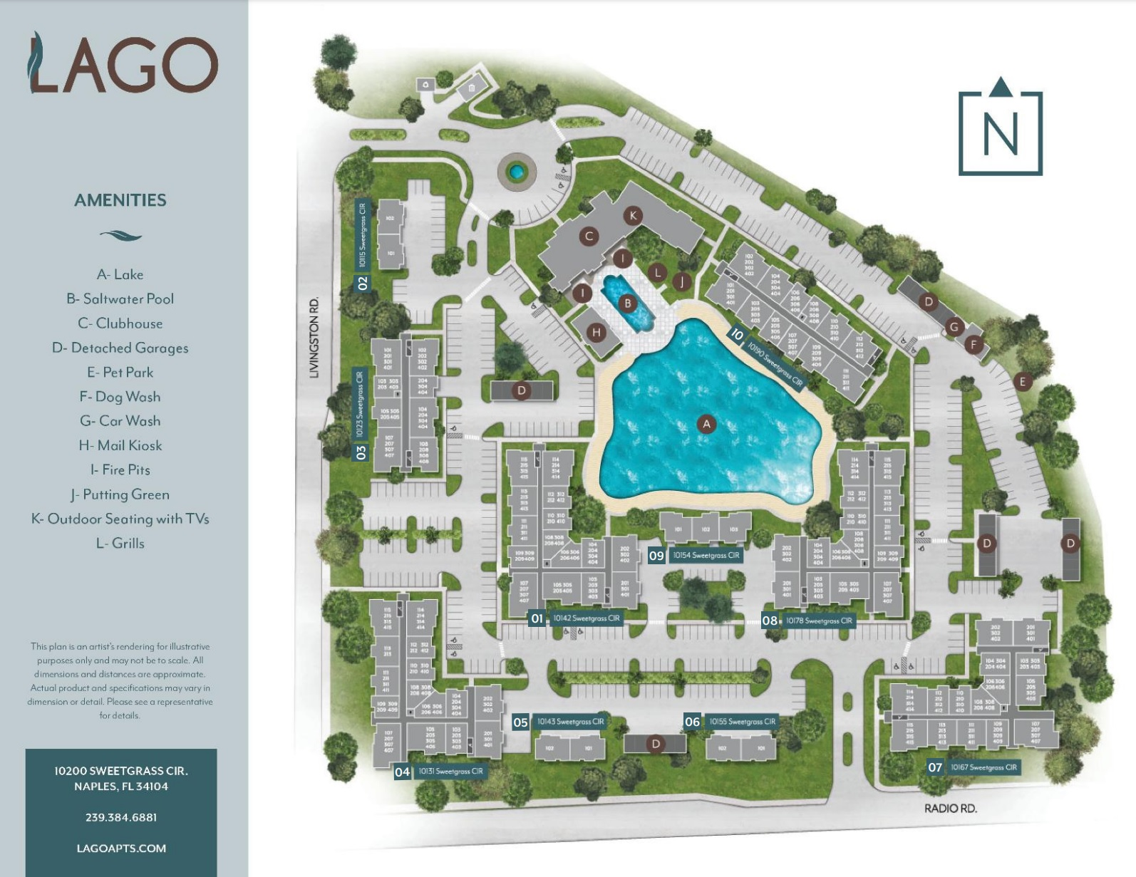 Lago Naples Site Plan