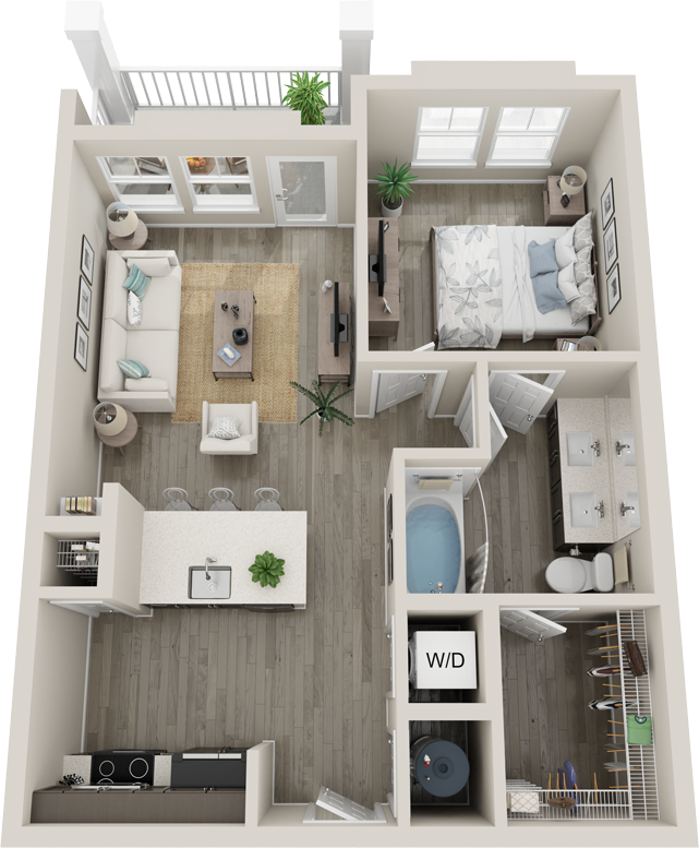 Trails at Hunter's Lake A1 floor plan