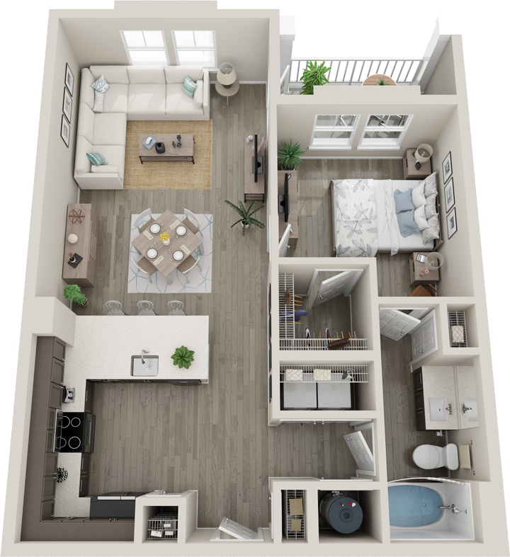 Trails at Hunter's Lake A3 floor plan