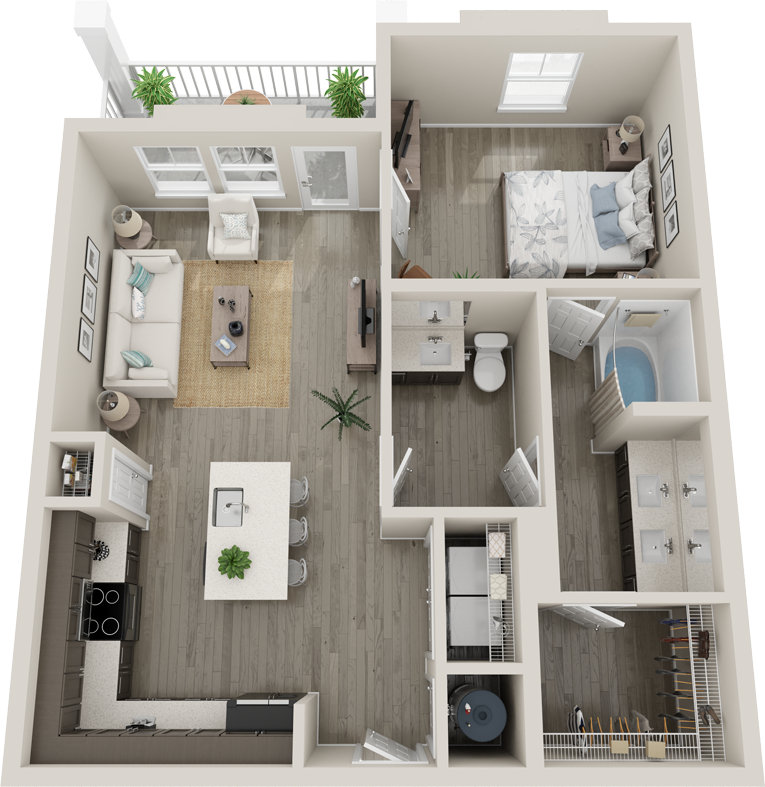 Trails at Hunter's Lake A4 floor plan
