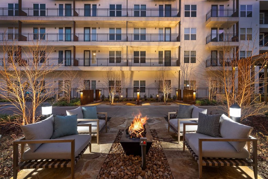 Firepit with plush seating
