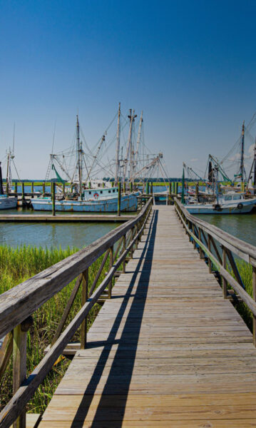 rustic boating dock with ships